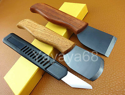 3pcs Leather Craft Nano Ceramic Skiving Cutting Cutter Knife Tool Set Kit