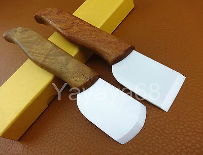 2pcs Leather Craft Nano Ceramic Blade Skiving Cutting Cutter Knife Tool Set Kit