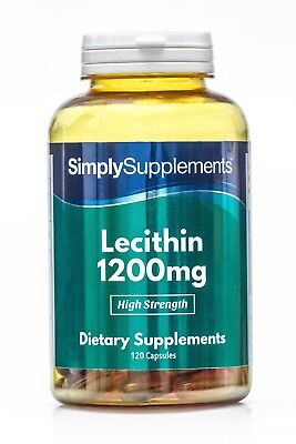 Lecithin 1200mg 240 Capsules Weight Management Cholesterol Levels HIGH STRENGTH