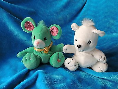 "Precious Moments Tender Tails mouse and bear 8"" plush"
