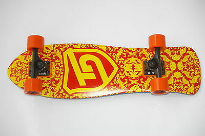 """Cruiser Complete - 28""""x8.5"""" - 7 ply Maple - Abec 7 - 5""""Truck - Red/Yellow"""