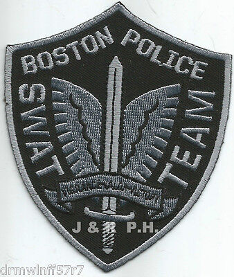 """Boston - S.W.A.T. Team, MA  (3.5"""" x 4.25"""" size)  shoulder police patch (fire)"""