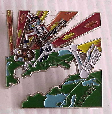 EUROPEAN UNCLE SAM US BLUES 1977  RELIX GRATEFUL DEAD 2 inch PIN