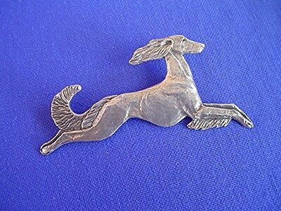 Stylized Saluki pin JUMPING #15T sighthound DOG Jewelry by Cindy A. Conter