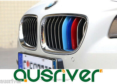 Car Auto Sport M3D Kidney Grill 3 Color Cover Strip Cap Clip Tech  For BMW X3 X4