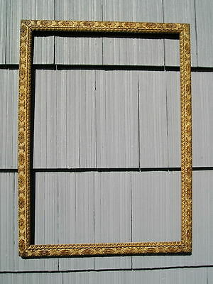 Antique Aesthetic Eastlake Victorian Aged Ornate Picture Frame 19 7/8~27 7/8