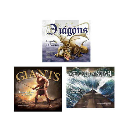 NEW Biblical Legends Package Giants, Dragons, & Flood of Noah  Lot of 3 HC Lore