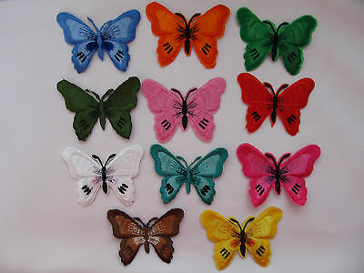 Butterfly Iron on Applique Patch ***DIFFERENT COLOURS***