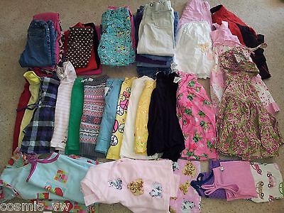 HUGE 47pc Lot of Girls Size 5 Clothes: Shirts Pants Outfits Jeans Dress & More!