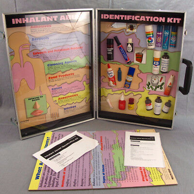 Inhalant Abuse Identification Kit Health Edco Display Carrying Case Drugs School
