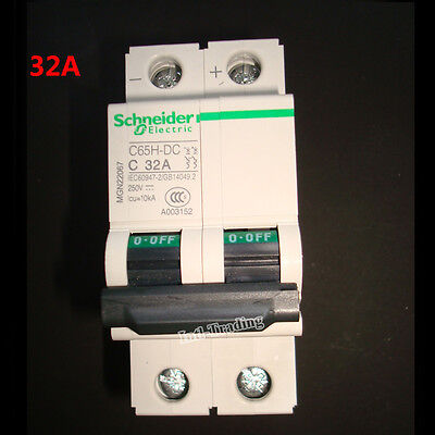 32A DC 2P 250V C65H-DC Circuit Breaker MCB PV Solar Energy Air Switch