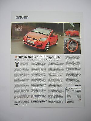 Mitsubishi Colt CZT Coupe-Cabriolet  Road Test from 2005 -  Original