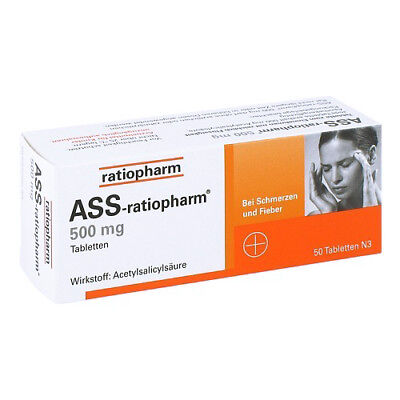 ASS RATIOPHARM 500 mg Tabl. 50St PZN 03404867