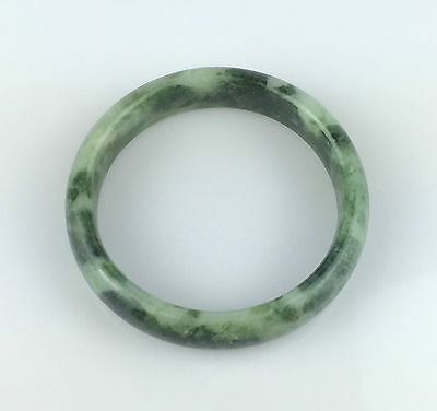 Bracelet Jonc Jade Jadéite Vert Naturel Aritisanal Chinois Chine Bangle J35