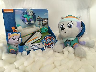 Paw Patrol 2 Pack Gift Set Everest Figure Plush Pup Snowmobile OUT OF STOCK
