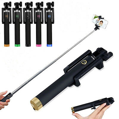 Handheld Wired Selfie Stick Monopod Extendable Pole For iPhone 6 Plus+ 5 5C 4 4S