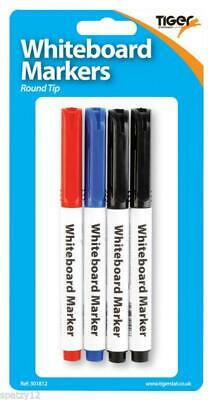 3x White Board Dry Erase//Wipe Pens Red Blue Green pastel colours Slim Line Broad