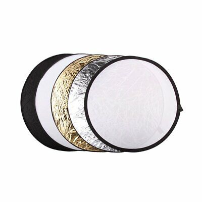 "UK 5in1 Collapsible 110cm 43"" Light Diffuser Round Reflector Disc + Carrying Bag"