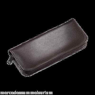 Mercedes Benz Classic Writing Case Cowhide Leather Brown New