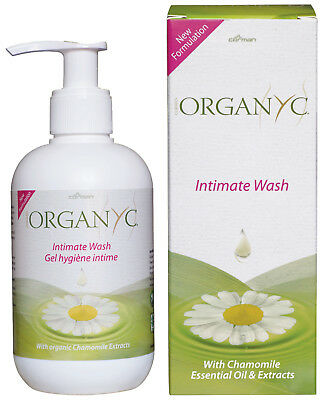Organyc Intimate Wash With Chamomile 250ml FREE P&P