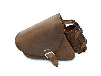 Brown Leather Harley Davidson Sportster 48 Forty-Eight Single Sided Saddle Bag