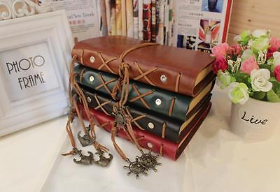 Retro Pirate Design Leather Cover Notebook Blank Diary Stationery Book Note Tool