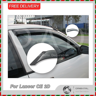 Premium Weather Shields Window Visors Weathershields Lancer CE 2D 96-03 Coupe