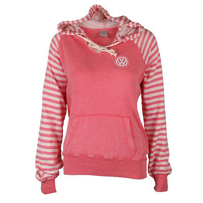 VW Volkswagen Driver Gear Ladies Medium Pink & White Beach Hoodie BRAND NEW