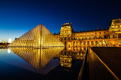 Schmidt The Louvre By Night Quality Jigsaw Puzzle (1000 Pieces) - Brand New
