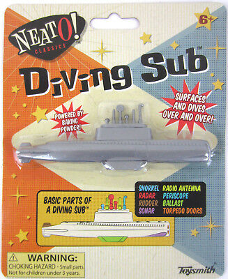 1950 Cereal Toy Baking Powder DIVING SUB Soda NEW Submarine vtg STOCKING STUFFER