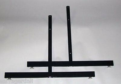 Black Grid Gridwall Slatgrid Panel Legs Free Standing Base Stand  Lot Of 8 NEW