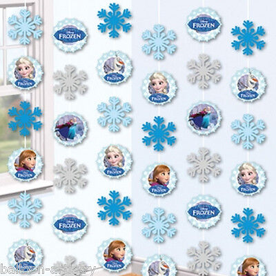6 Disney Frozen Children's Birthday Party Hanging Strings String Decorations