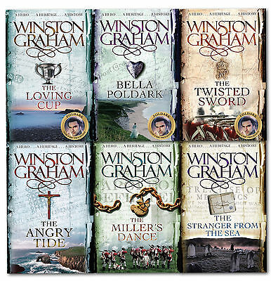 Winston Graham Poldark Series 6 Books Collection Set 7 to 12  Bella Poldark
