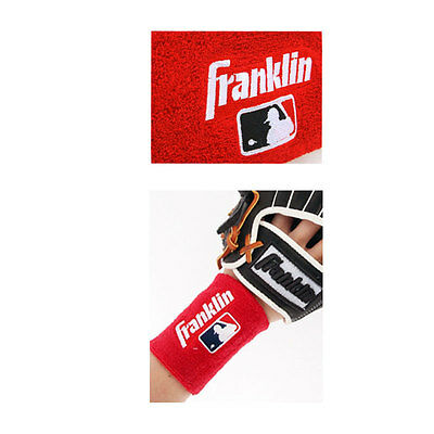 Franklin MLB Batters Wrist Band 23351C2 1pack - 2pcs Red