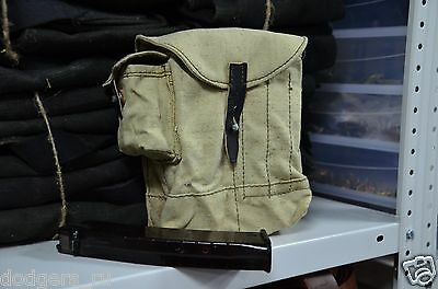 Authentic Russian AK47 4 Cell, Ammo Pouch Soviet Olive Ammunition Bag