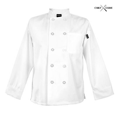 Chef Code Womens Classic Chef Coat Long Sleeve Chef Jackets CC115