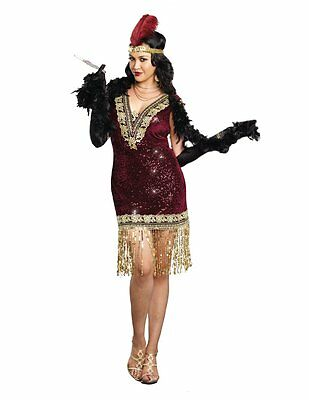 Flapper Sophisticated Lady Roaring 20s 20's Adult Costume Plus Size
