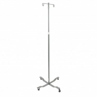 Cardinal Health IV Pole ''4 Leg, 2 Hook, Chrome''