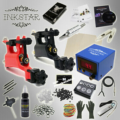 Complete Tattoo Kit Professional Inkstar 2 Machine ROTARY Set GUN Black Pro Ink