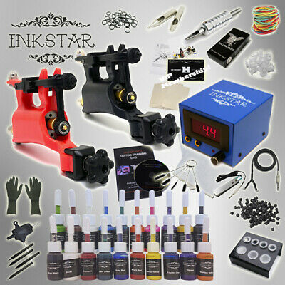 Complete Tattoo Kit Professional Inkstar 2 Machine ROTARY Set GUN 20 Colors Ink