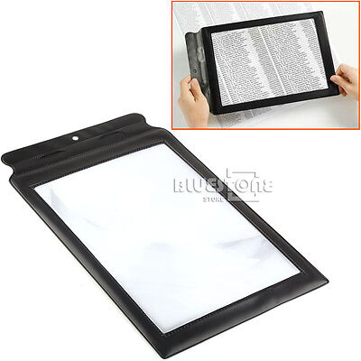 A4 Page 3x Magnifier Sheet LARGE Magnifying Glass Book Reading Aid Lens OK