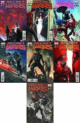 Secret Wars 1 2 3 4 5 6 7 1-7 Gabrielle Dell Otto Comicxposure Variant Spiderman