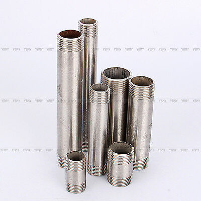 """New 40/100/150mm 1/2""""-1"""" NPT Male Stainless Steel 304 Threaded Pipe Fittings"""