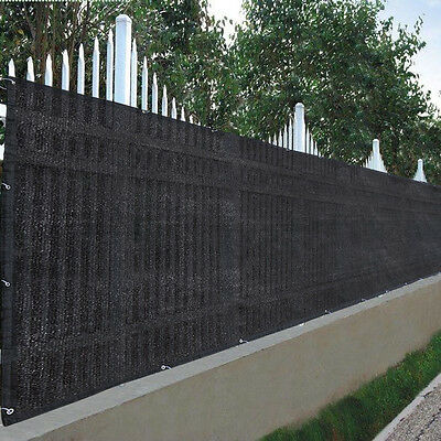"25x4ft 90% Privacy Fence Screen Outdoor Garden Yard 300""x48"" Mesh Fabric Cover"