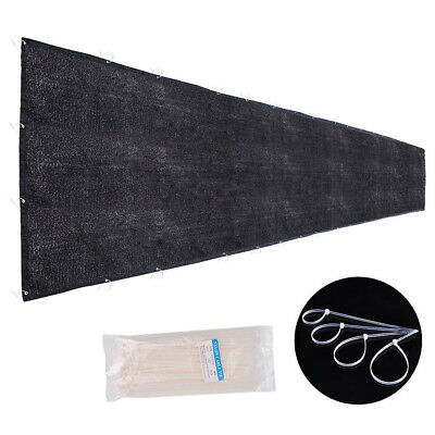 90% Privacy Fence Screen 25x6' Outdoor Yard Garden Black Mesh Fabric Shade Cover