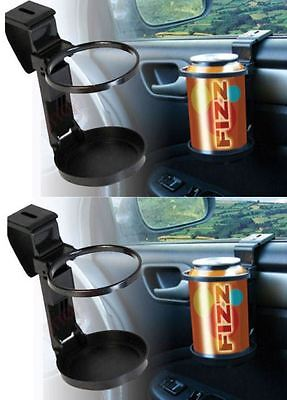 2 x UNIVERSAL Sakura In Car Drinks Cup Bottle Can Holder Foldable & Clip On