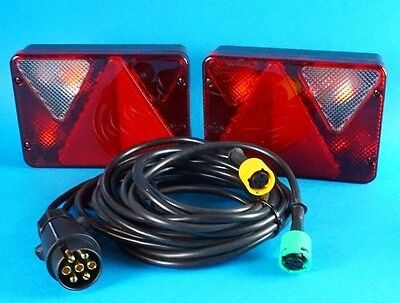 AJBA RL80 Quick-Fit Pre-wired Lamps & 4m Harness for Erde & Daxara Trailers