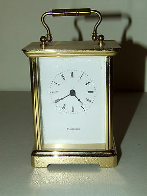 Beautiful Working TIFFANY & CO. Brass Carriage Desk Clock with German Movement