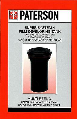 Paterson Super System 4 Film Developing Tank : 3 X Multi Reel : Excluding Reels