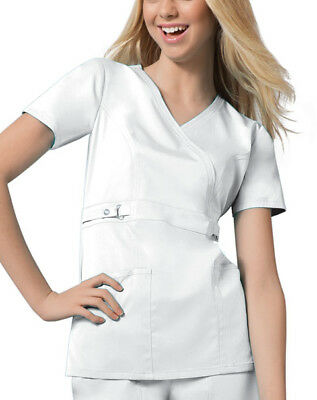 710d5b9dab8 CHEROKEE LUXE 21701 Women's Jr. Fit Mock Wrap Top Medical Uniforms ...